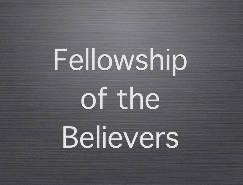 meet with fellow believers
